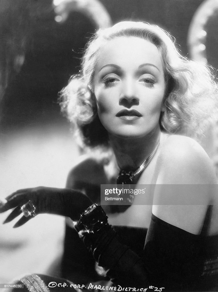 Marlene Dietrich. Undated head and shoulders photograph.