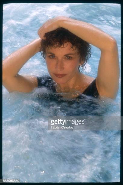 Marlene Jobert in a whirlpool at the Ken Club in Paris