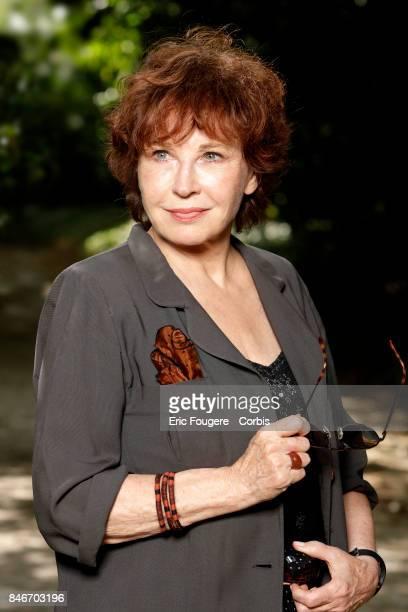 Marlene Jobert poses during a portrait session in Paris France on