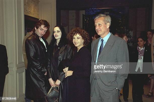 Marlene Jobert with her daughter Eva her husband Walter Green and Pierre Palmade