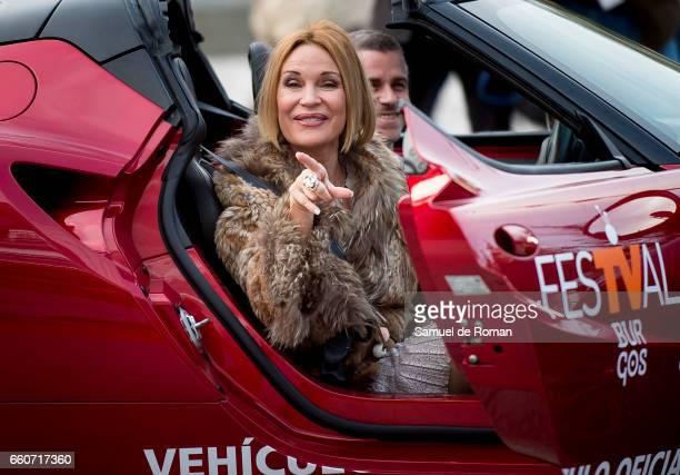 Marlene Mourreau attends `Chicho Ibanez Serrador Visiones de Futuro' orange carpet in Burgos on March 30 2017 in Burgos Spain