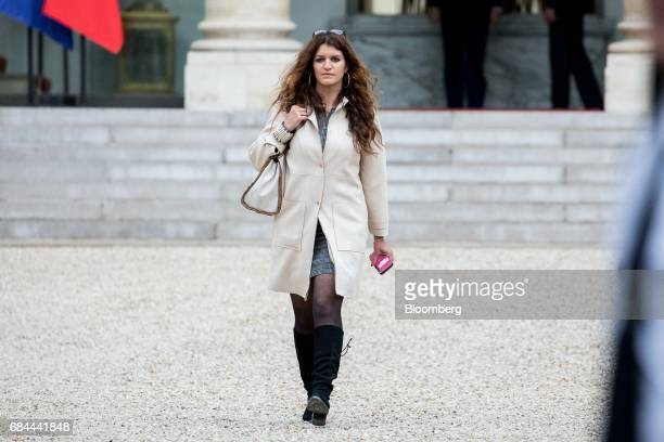 Marlene Schiappa France's junior minister for gender equality departs following a cabinet meeting at the Elysee Palace in Paris France on Thursday...