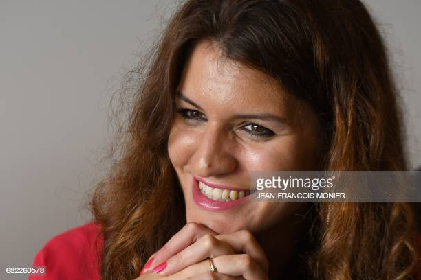 Marlene Schiappa member of the nomination committee of La Republique en Marche party poses after a press conference to present the party's local...