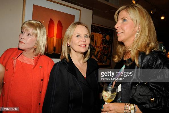 Marlene Sexton Cornelia Sharpe Bregman and Margo Mcnabb Nederlander attend 'PARTY FAVORS' by Nicole Sexton Book Release Party at Michael's on July 29...