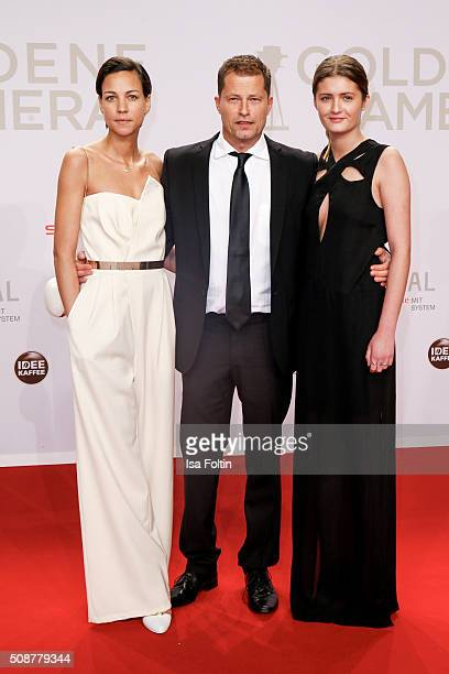 Marlene Shirley Til Schweiger and Lilli Schweiger attend the Goldene Kamera 2016 on February 6 2016 in Hamburg Germany