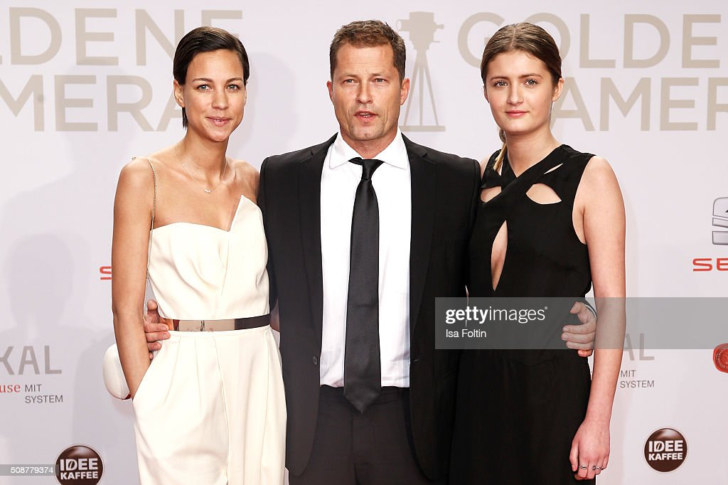Marlene Shirley, <a gi-track='captionPersonalityLinkClicked' href=/galleries/search?phrase=Til+Schweiger&family=editorial&specificpeople=740750 ng-click='$event.stopPropagation()'>Til Schweiger</a> and <a gi-track='captionPersonalityLinkClicked' href=/galleries/search?phrase=Lilli+Schweiger&family=editorial&specificpeople=7630485 ng-click='$event.stopPropagation()'>Lilli Schweiger</a> attend the Goldene Kamera 2016 on February 6, 2016 in Hamburg, Germany.
