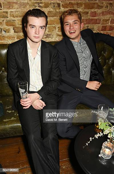 Marley Mackay and Rafferty Law attend COACH Men's Fall/Winter 2016 Party hosted by Stuart Vevers at The Lady Ottoline on January 9 2016 in London...