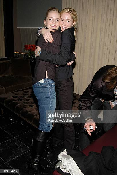 Marley Shelton and Lauryn Flynn attend THE CINEMA SOCIETY CALVIN KLEIN present the AfterParty for FACTORY GIRL at Gramercy Park Hotel on January 30...