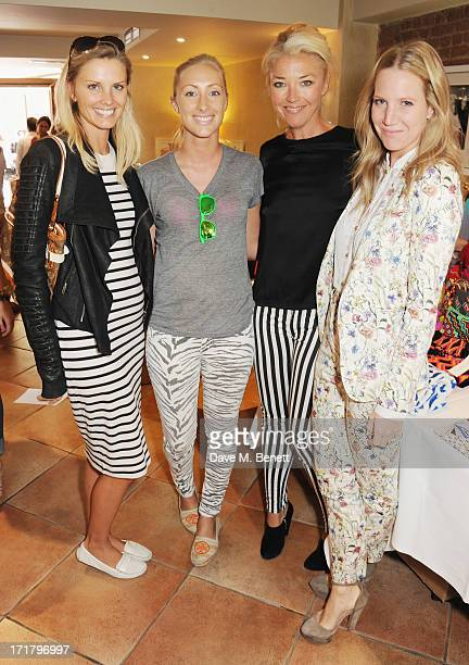 Marlin Jefferies Emma Pilkington Tamara Beckwith and Alice NaylorLeyland attend the Little Black Gallery summer street party at The Little Black...