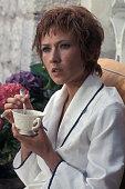 Marlène Jobert lors du tournage du film 'Le Passager de la pluie' réalisé par René Clément en 1969 en France