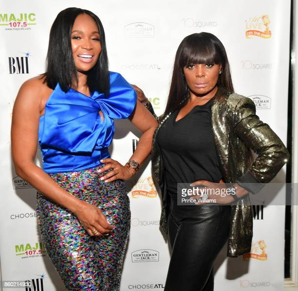 Marlo Hampton and Catherine Brewton attend ATL Live On The Park October Edition at Park Tavern on October 10 2017 in Atlanta Georgia