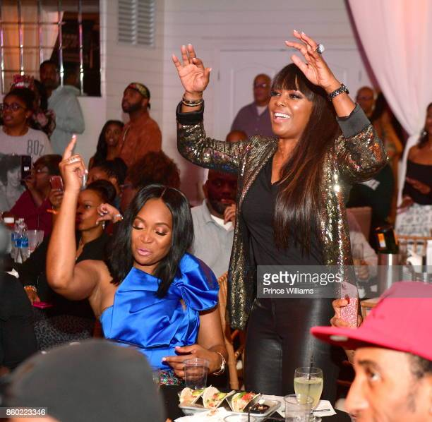 Marlo Hampton and Catherine Brewton attend ATL Live OnThe Park October Edition at Park Tavern on October 10 2017 in Atlanta Georgia