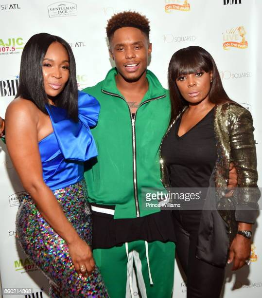 Marlo Hampton Avery Wilson and Catherine Brewton attend ATL Live On The Park October Edition at Park Tavern on October 10 2017 in Atlanta Georgia