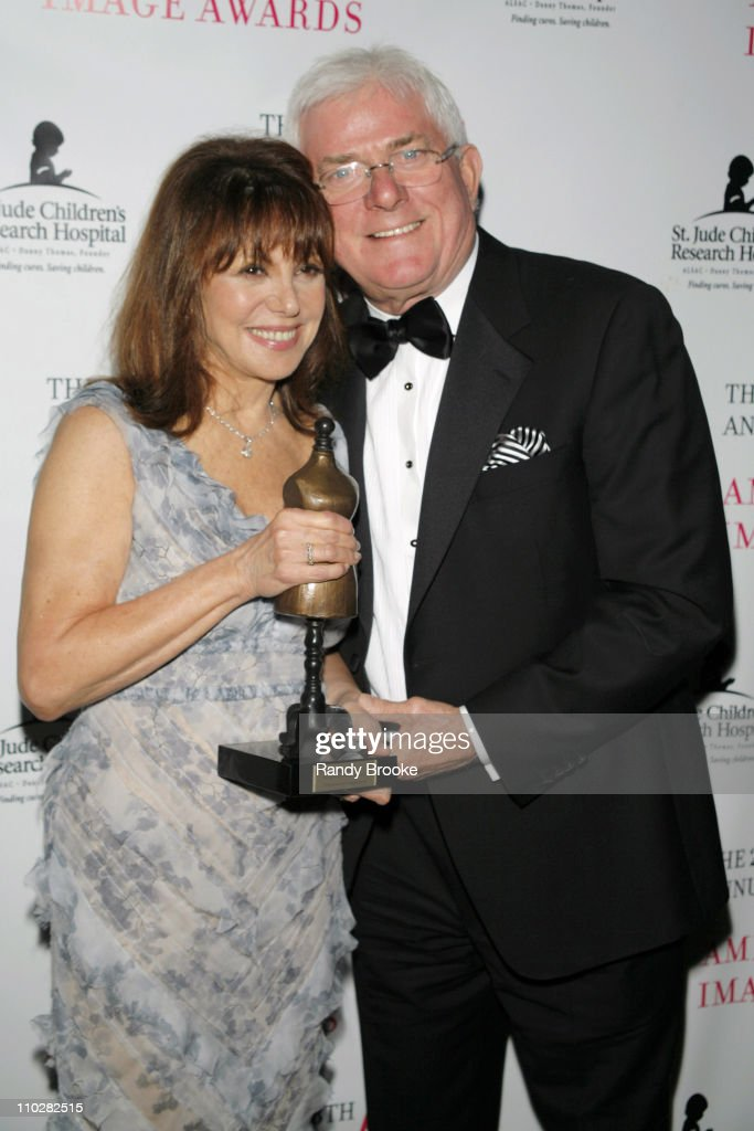 Marlo Thomas and Phil Donahue during 28th Annual American Image Awards Show at Hyatt in New York City New York United States