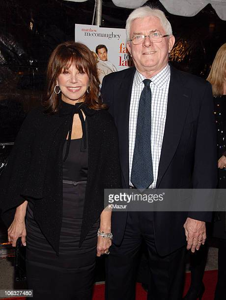 Marlo Thomas and Phil Donahue during 'Failure to Launch' New York City Premiere at Clearview Chelsea West Theatre in New York CIty New York United...