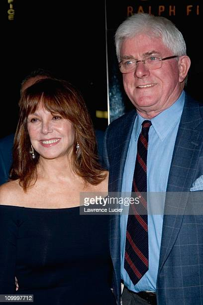 Marlo Thomas and Phil Donahue during Shopgirl New York City Premiere Arrivals at Beekman Theater in New York City New York United States