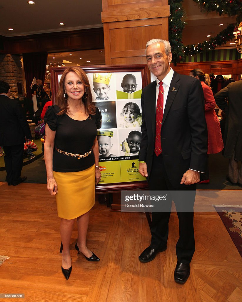 Marlo Thomas and Rick Shadyal attend The Brooks Brothers Hosts Seventh Annual Holiday Celebration To Benefit St Jude Children's Research Hospital on December 12, 2012 in New York City.