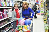 Marlo Thomas and St Jude patient Mary attend the St Jude Thanks And Giving Campaign Shopping Spree at Kmart on December 15 2014 in New York City