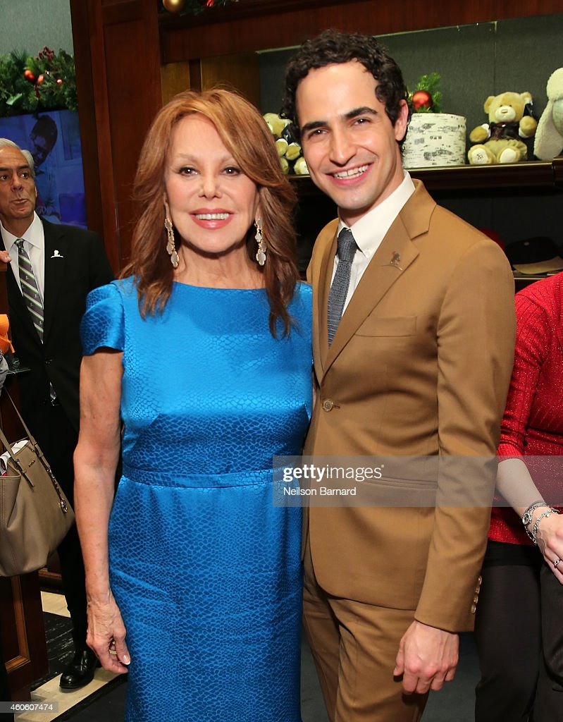 Marlo Thomas and Zac Posen attend as BROOKS BROTHERS Celebrates The Holidays With St Jude Children's Research Hospital on December 17 2014 in New...