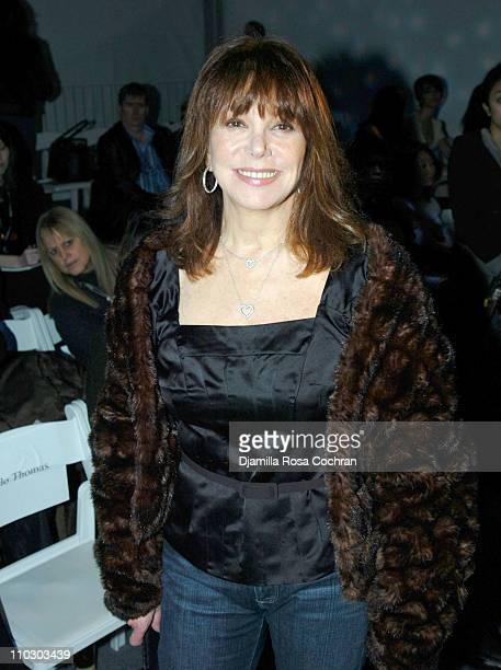 Marlo Thomas during MercedesBenz Fashion Week Fall 2007 Marc Bouwer Backstage and Front Row at The Salon Bryant Park in New York City New York United...