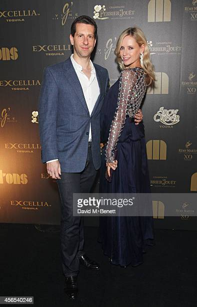 Marlon Abela and Nadya Abela attend the 10th anniversary of Mortons in Berkeley Square Gardens on October 2 2014 in London England