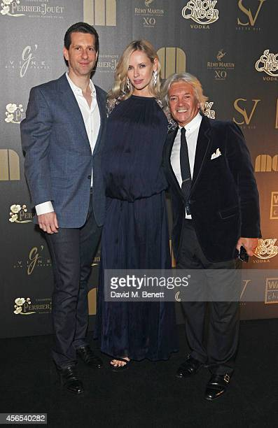 Marlon Abela Nadya Abela and Jorge Calisto attend the 10th anniversary of Mortons in Berkeley Square Gardens on October 2 2014 in London England