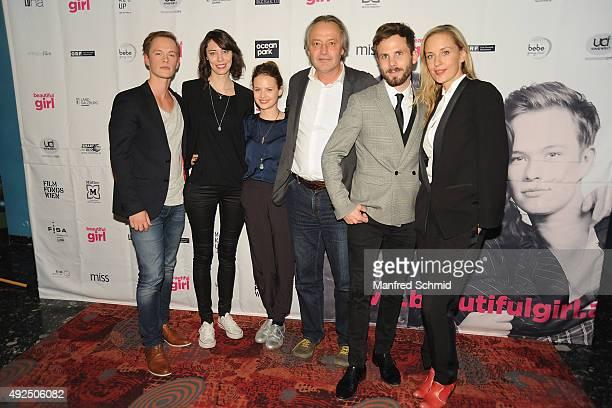 Marlon Boess producer Constanze Schumann Jana Naomi McKinnon producer Helmut Grasser director Dominik Hartl and Lilian Klebow pose during the...