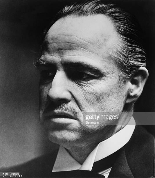 Marlon Brando as Don Vito Corleone the title character in The Godfather