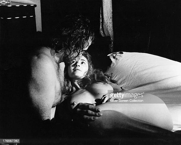 Marlon Brando as Peter Quint and Stephanie Beacham as Miss Jessel in 'The Nightcomers' directed by Michael Winner 1971