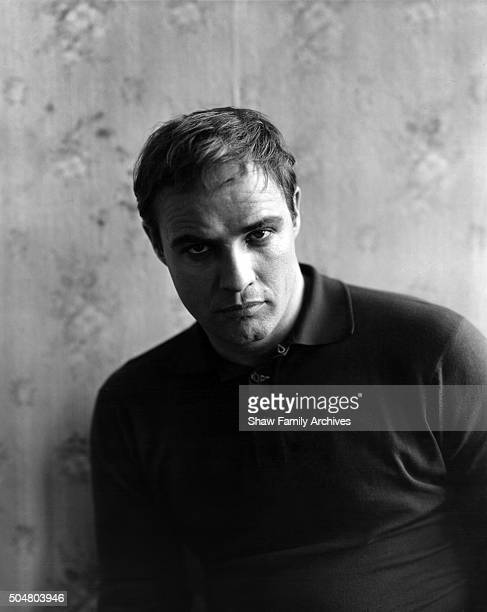 Marlon Brando in 1958 during the filming of 'The Fugitive Kind' in New York New York