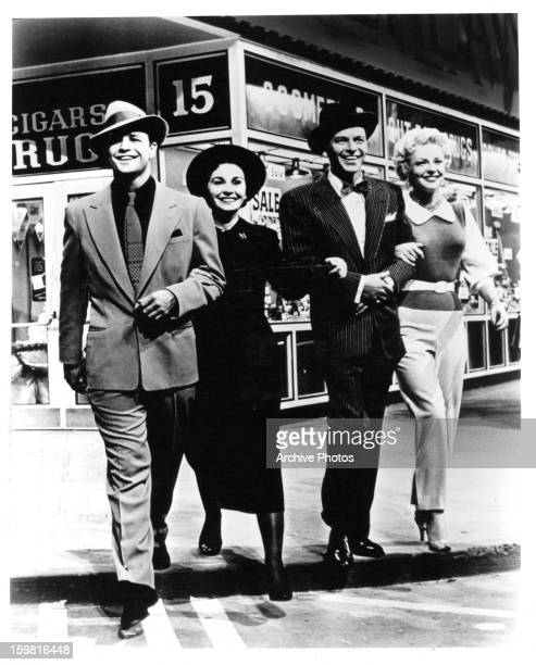 Marlon Brando Jean Simmons and Vivian Blaine in a scene from the film 'Guys And Dolls' 1955