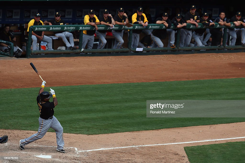 <a gi-track='captionPersonalityLinkClicked' href=/galleries/search?phrase=Marlon+Byrd&family=editorial&specificpeople=217377 ng-click='$event.stopPropagation()'>Marlon Byrd</a> #2 of the Pittsburgh Pirates at Rangers Ballpark in Arlington on September 11, 2013 in Arlington, Texas.