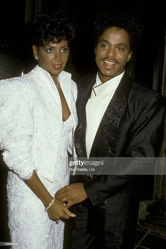 Marlon Jackson and wife Carol Ann Parker attend 13th Annual American Music Awards on January 27, 1986 at the Shrine Auditorium in Los Angeles, California.