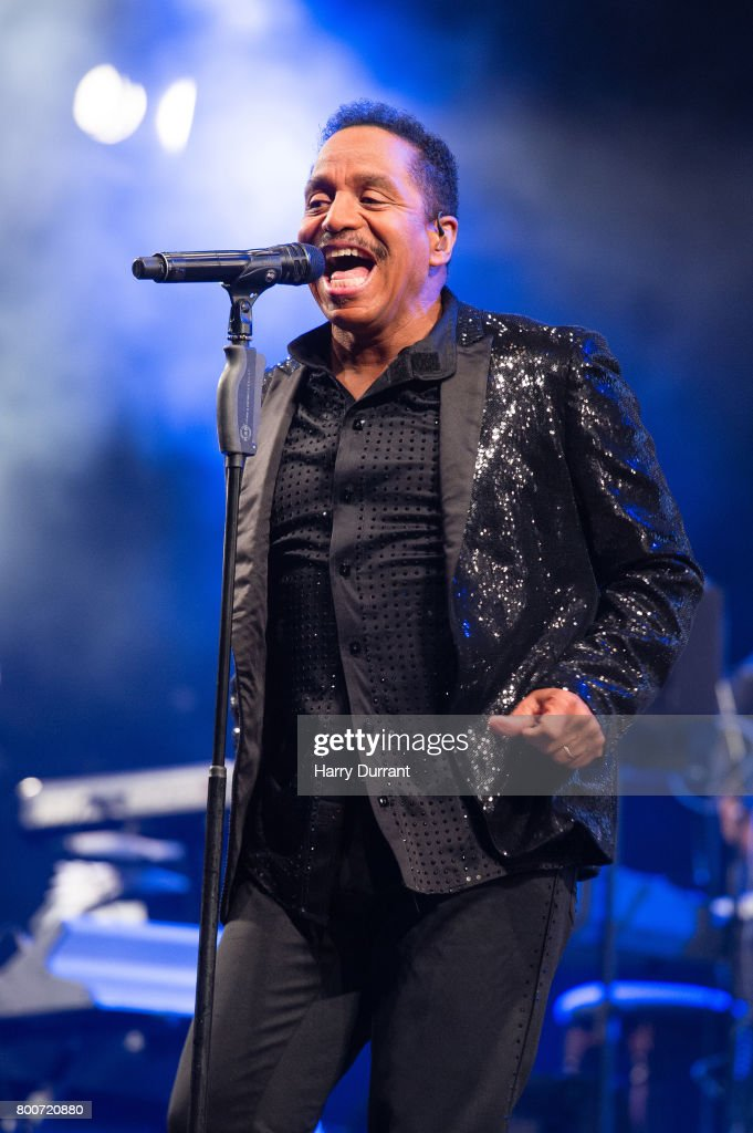 Marlon Jackson from The Jacksons performs on the West Holts Stage on day 3 of the Glastonbury Festival 2017 at Worthy Farm, Pilton on June 24, 2017 in Glastonbury, England.
