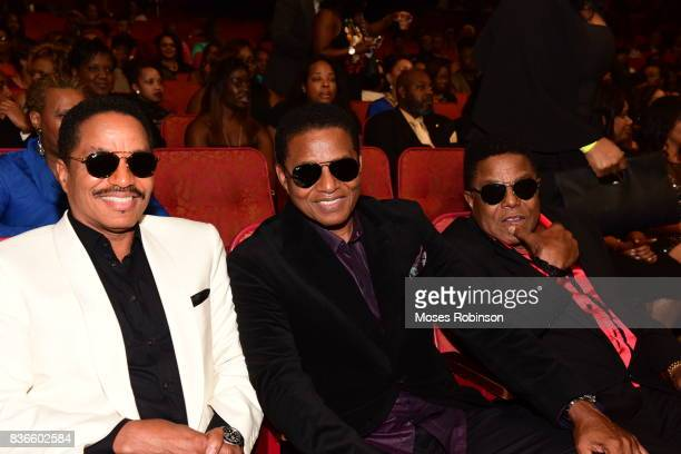 Marlon Jackson Jackie Jackson and Tito Jackson of The Jacksons attend the 2017 Black Music Honors at Tennessee Performing Arts Center on August 18...