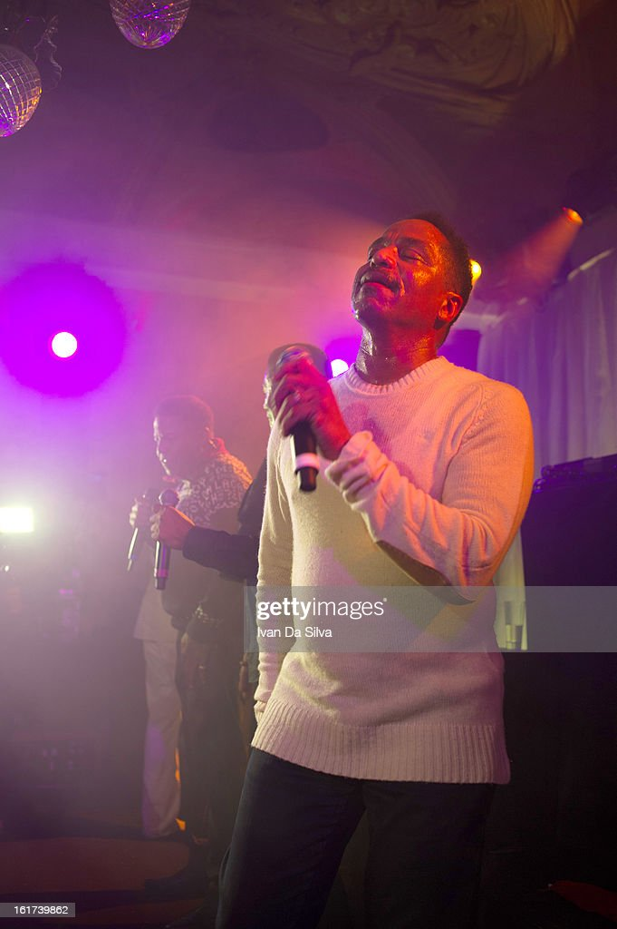 Marlon Jackson of The Jacksons performs with Wyclef Jean at Cafe Opera on February 14, 2013 in Stockholm, Sweden.