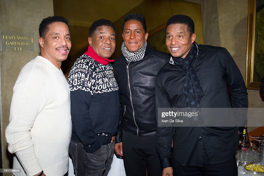 <a gi-track='captionPersonalityLinkClicked' href=/galleries/search?phrase=Marlon+Jackson&family=editorial&specificpeople=914632 ng-click='$event.stopPropagation()'>Marlon Jackson</a>, <a gi-track='captionPersonalityLinkClicked' href=/galleries/search?phrase=Tito+Jackson&family=editorial&specificpeople=216556 ng-click='$event.stopPropagation()'>Tito Jackson</a>, <a gi-track='captionPersonalityLinkClicked' href=/galleries/search?phrase=Jermaine+Jackson&family=editorial&specificpeople=204742 ng-click='$event.stopPropagation()'>Jermaine Jackson</a> and <a gi-track='captionPersonalityLinkClicked' href=/galleries/search?phrase=Jackie+Jackson&family=editorial&specificpeople=212794 ng-click='$event.stopPropagation()'>Jackie Jackson</a> of The Jacksons perform at Cafe Opera on February 14, 2013 in Stockholm, Sweden.