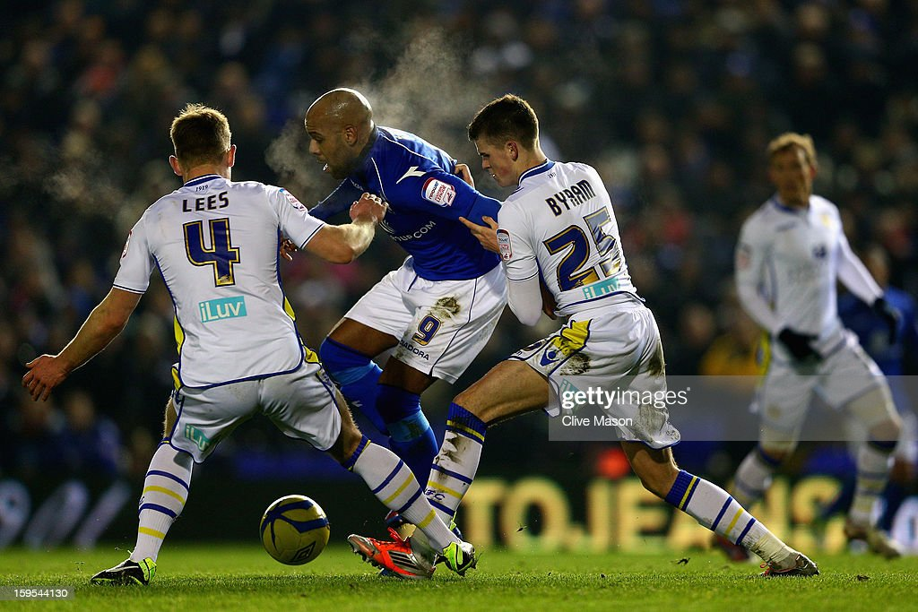 <a gi-track='captionPersonalityLinkClicked' href=/galleries/search?phrase=Marlon+King&family=editorial&specificpeople=220761 ng-click='$event.stopPropagation()'>Marlon King</a> of Birmingham City on the attack during the FA Cup with Budweiser Third Round Replay match between Birmingham City and Leeds United at St Andrews on January 15, 2013 in Birmingham, England.