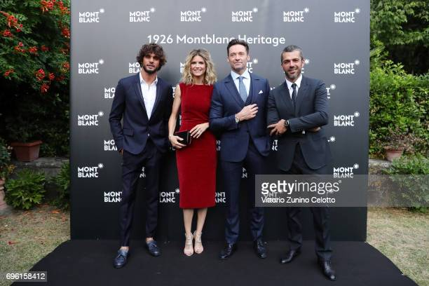 Marlon Luiz Teixeira Alice Taglioni Hugh Jackman and Luca Argentero attend the '1926 Montblanc Heritage Launch event' on June 14 2017 in Florence...