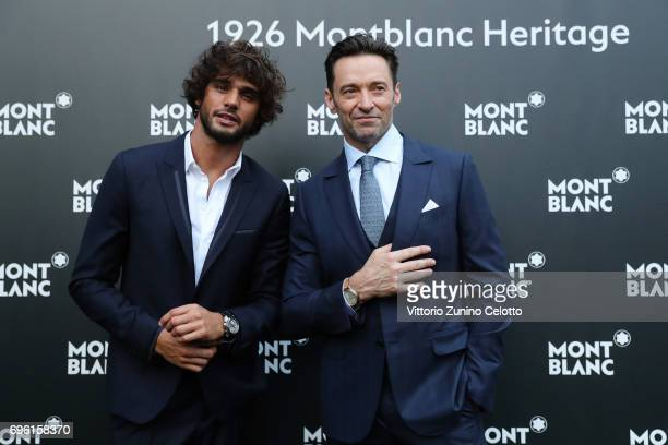Marlon Luiz Teixeira and Hugh Jackman attend the '1926 Montblanc Heritage Launch event' on June 14 2017 in Florence Italy