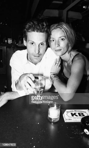 Marlon Richards and Lucie de la Falaise pose for a portrait at a party for 'Cheap Date' magazine in June 1999 at Don Hill's in New York City New York