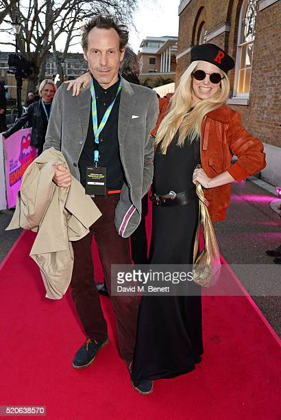 Marlon Richards and Theodora Richards attends a private view of 'The Rolling Stones Exhibitionism' at The Saatchi Gallery on April 4 2016 in London...