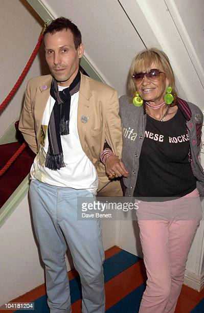Marlon Richards With His Mum Anita Pallenberg The Launch Party For A New Exhibition By Photographer Mick Rock Of Images Of Pink Floyd Founder Syd...