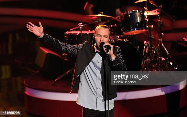Marlon Roudette sings during the Bavarian Film Award 2015 on January 16 2015 in Munich Germany