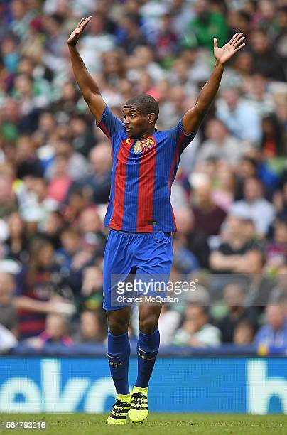Marlon Santos of Barcelona during the International Champions Cup series match between Barcelona and Celtic at Aviva Stadium on July 30 2016 in...