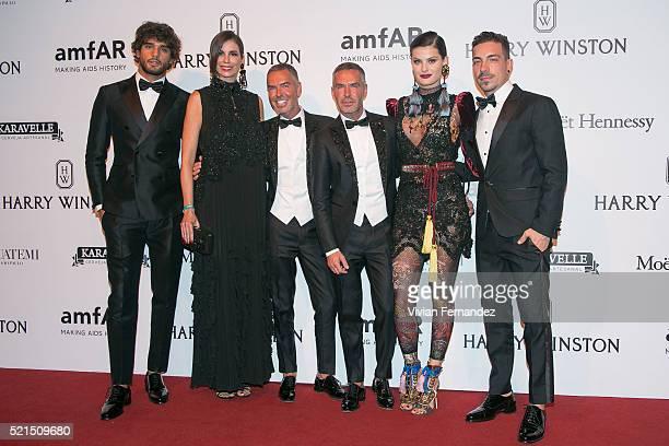 Marlon Teixeira Christina Pitanguy Dean and Dan Caten Isabeli Fontana and Diego Ferrero wearing Dsquared2 arrives at 2016 amfAR Inspiration Gala on...