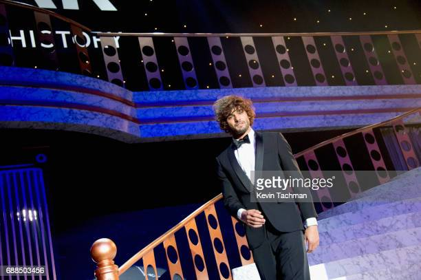 Marlon Teixeira walks the runway at the amfAR Gala Cannes 2017 at Hotel du CapEdenRoc on May 25 2017 in Cap d'Antibes France