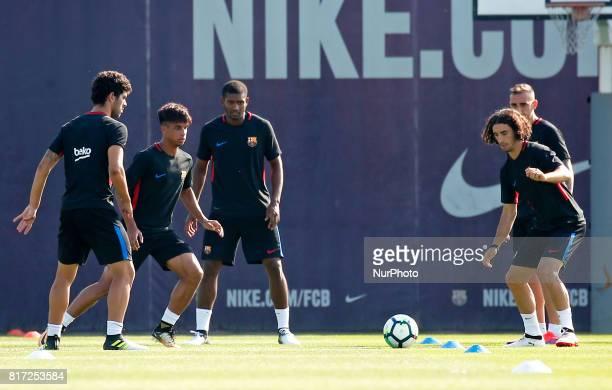 Marlon Vitinho and Cururella during the FC Barcelona training on 17 july 2017 Photo Joan Valls/Urbanandsport/Nurphoto