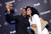 Marlon Wayans and Tracee Ellis Ross attend the Entertainment Weekly People Upfronts party 2016 at Cedar Lake on May 16 2016 in New York City
