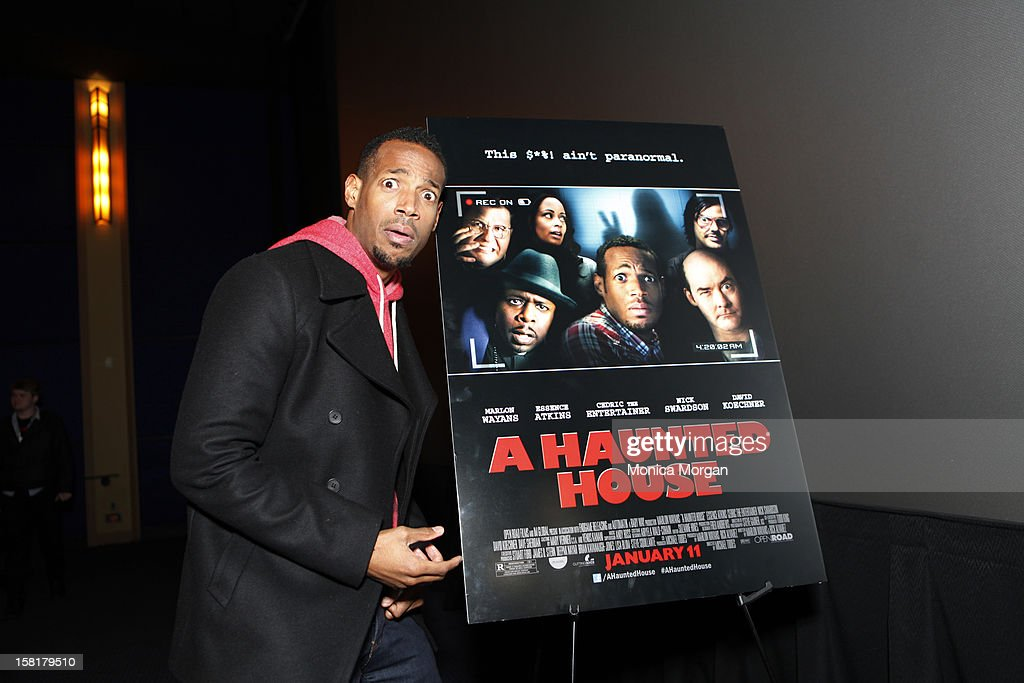 Marlon Wayans attends 'A Haunted House' screening at Uptown Palladium on December 10, 2012 in Birmingham, Michigan.